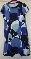 Boden Blue Mix Linen Dress Size 10L
