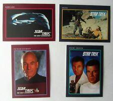 Star Trek 25th Anniversary 1991 Impel Trading Cards #37,128,130,133 TOS&Next Gen