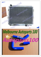 50MM ALUMINUM RADIATOR SURF HILUX 2.4 2.0 LN130 DIESEL + BLUE HOSE FOR TOYOTA AT