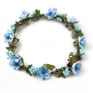 Boho Women's Flower Headband Crown Garland Wedding Bridal Hairband Hair Wreath