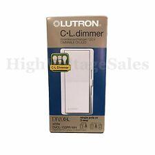 LUTRON Diva DVCL-153PR-WH Single /3-Way 150W CFL/ LED 600W INC/HAL  Dimme, White