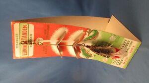 Vintage Pflueger Luminous Tandem Spinner No. 1998 Size 2 fishing lure display vg