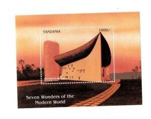 Tanzania 1997 - 7 Wonders Of The Modern World - Stamp Souvenir Sheet - MNH