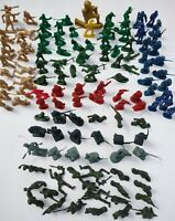 Lot of Vintage Plastic Army Men Toy Soldiers Cowboys Firemen Police Etc Unsorted