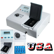 Accuracy Visible Uv Spectrophotometer Digital Reader 350-1020nm Tungsten Lamp Us