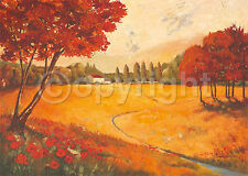 Claudia Ancilotti: Indian Summer Fertig-Bild 50x70 Wandbild Toskana