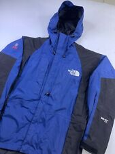 THE NORTH FACE Mens Summit Series Gore-Tex XCR Jacket Blue Black TNF Hood Small