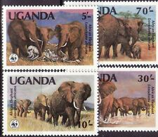 Uganda 1983 - MNH - Dieren / Animals (Elephants) WWF/WNF