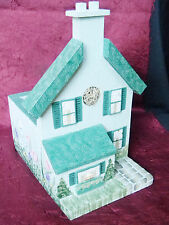 Handcrafted Cottage Home House Bird Feeder Potted Plant Holder - USA - UNIQUE!