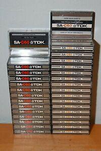 Lot of 31 TDK SA-C60 Super Avilyn Cassette Tapes