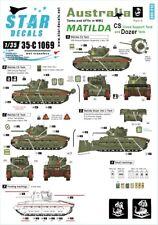 Star Decals, SCALE 1/35, 35-C1069 Australia Tanks & AFVs # 4.MATILDA. CS