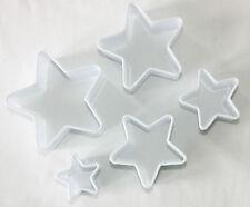 Cortadores De Plástico En Forma De Estrella Conjunto de 5 Cortadores, Pastelería, Galletas Y Fondant