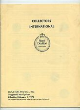 1979 Royal Doulton Collectors International illustrated price list, Plates