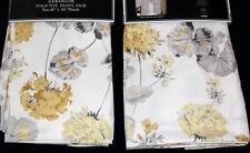 2 Laura Ashley GERANIUM Yellow Gold Grey Pole Top Window Panels 40 x 84 EA NWT