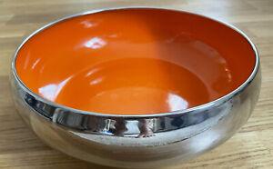 "ROYAL DOULTON ""Pop In For Drinks"" Metal Orange Enamel Fruit Bowl Medium D 20 cm"