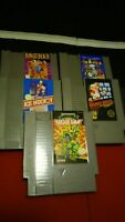 Nintendo NES Lot of 5 Games Cleaned Tested Works