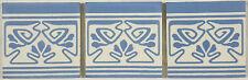 Drei alte Fliesen / Kacheln Jugendstil, Villeroy & Boch Mettlach, floral