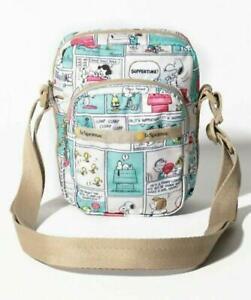 CHARLIE CROSSBODY Peanuts comic strip Snoopy Shoulder Bag LeSportsac 3377 Japan