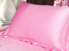 Summer Silk Satin Soft Pillow Cases Queen Standard Bed Cushion Cover Comfy