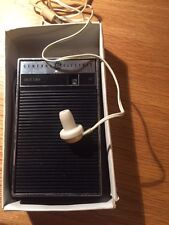 vintage GE AM Miniature Radio with original box and ear bud