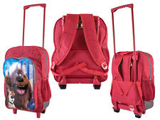 SECRET LIFE OF PETS RED CABIN BAG DELUXE TROLLEY BACK PACK TRAVEL SUITCASE KIDS