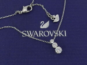 Swarovski Silver-ToneTriple-Crystal Pendant Necklace 5414970