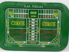 Vintage Las Vegas Craps Layout Gambling Game Bright Tin Serving Tray Exc!