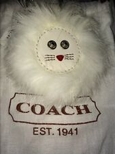 Coach Key Fob Mink Cat New With Tags