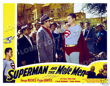 SUPERMAN AND THE MOLE MEN LOBBY SCENE CARD # 6 POSTER 1951 GEORGE REEVES