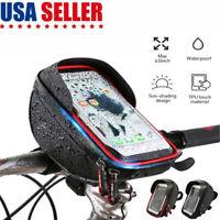 """Bike Bicycle Motorcycle Handlebar Case Bag Mount Holder Waterproof For 6"""" Phone"""