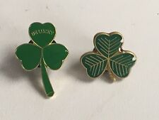 Pairs Of Enamel Shamrock Pin Badges - St Patrick's Day