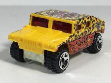 Hot Wheels 2004 Humvee AM General Corp Hummer Yellow Leopard HW Scrapheads Loose