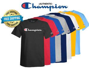 Champion Herren Classic Jersey Script Logo T-Shirt --- BRANDNEU --- verschiedene Größen