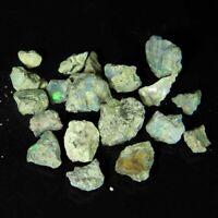 19.00Carat100% Natural Multi Ethiopian Opal Small Rough Lot Loose Gemstone