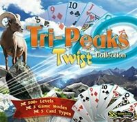 Tri-Peaks Twist Collection  Solitaire taken to new heights  PC XP Vista 7 8  NEW