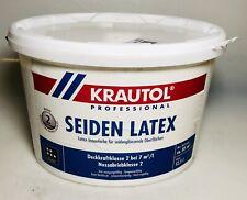 12,5 L Krautol Seiden Latex Innenfarbe Weiß Beschichtung Anstrich Maler Wand