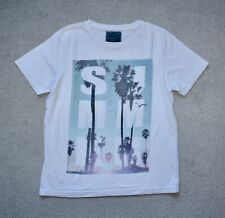 BOYS WHITE SUMMER PALM TREES T-SHIRT FROM TU SIZE 11 YEARS