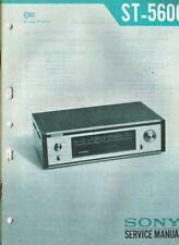 Sony Tuner ST-5600 Schaltplan Manual ORIGINAL ca. 35 Seiten ca. 1970