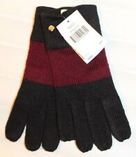 Kate Spade New York Color Block Gloves Knit Navy Wine Fleur de Lis MSRP $48 NEW