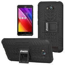 Amzer Hybrid Warrior Cover Case for ASUS Zenfone Max Zc550kl - Black