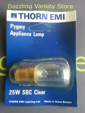 6 x Thorn EMI SBC B15 25W 240V Pygmy Appliance Lamp Light Bulb Vintage 1970's
