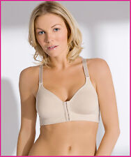 Post Surgical Front Fastening Soft Cup Breast Surgery Bra - Various Cups Sizes Nude 34d