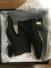 Alexander Wang woven cut-out heel ankle boots (new with box, never worn)