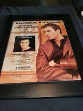 Enrique Iglesias Vivir Rare Original Promo Poster Ad Framed! #2