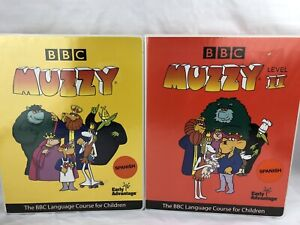 BBC Muzzy DVD's +CDS -7 media sealed Spanish Sets 1 and 2 Complete