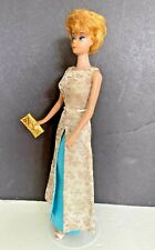 Vintage 1964 red/blonde Bubble Cut Barbie doll Mattel #1660 Evening Gala Brocade