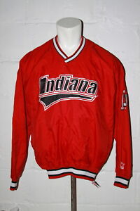 VTG Starter Indiana Hoosiers Red Embroidered Pullover Jacket Sz XL NICE WOW