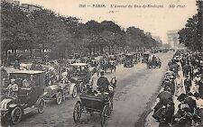 POSTCARD  FRANCE  PARIS  Motor  Cars  l'Avenue du Bois-de-Boulogne