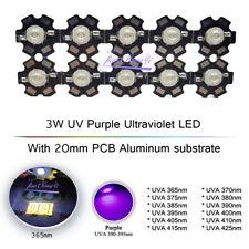 3w Uv Purple Ultraviolet Led Bulbs Lamp 365nm 395nm With 20mm Pcb 1 10pcs
