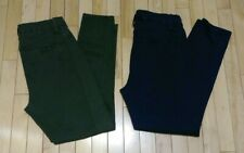 LOT OF 2 Gap Navy Blue & Green High Rise Sculpt Twill Leggings Pants Size 12